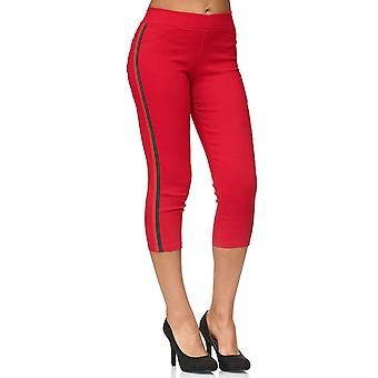 Ladies Capri Pants Skinny Treggings Hipsters Shorts Jeggings Cropped Stripes
