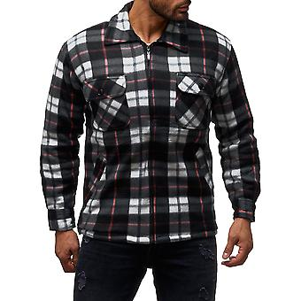 Hommes Lumberjack Shirt Plaid Thermo Shirt Doublé Veste Flannel Workwear
