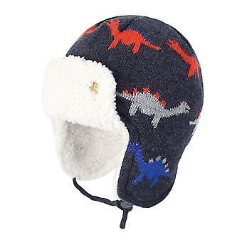 Boys Kids Winter Cute Cartoon Cotton Fleece Warm Hat.
