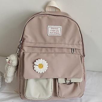 Cute Backpack,  Flower Female School Bags / Book Kawaii Backpack / Nylon Trendy