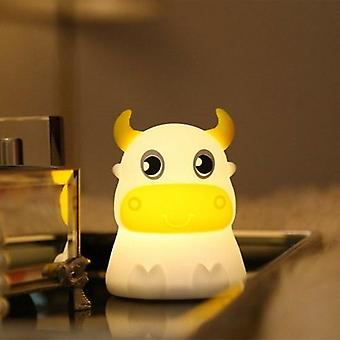Colorful Dull Cow Silicone Night Light Led Bedside Lights