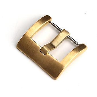 Anpassning Mekanisk Brons spänne, läder klockarband spänne Mässing Vintage
