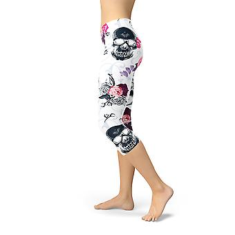 Women's Day of the Dead Capri Leggingsit