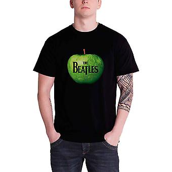 The Beatles T Shirt Classic Apple Band Logo Official Mens New Black