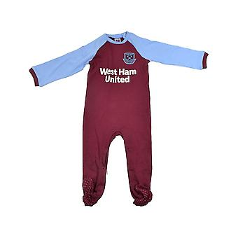 West Ham United FC Baby Sleepsuit