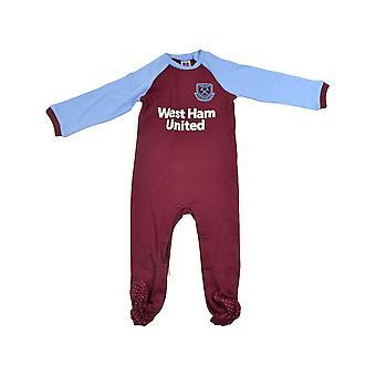 West Ham United FC bebê Sleepsuit