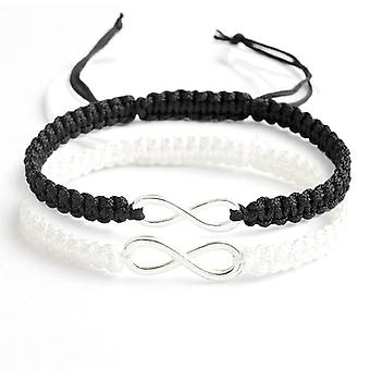 Ensemble infinity bracelet fait main