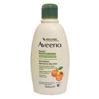 Aveeno Daglig fugtgivende Yoghurt Body Wash 300ml Abrikos Honning Normal til tør hud
