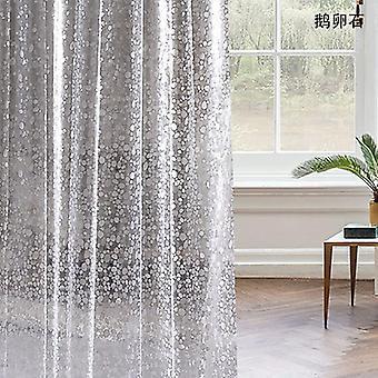 Cortina de chuveiro à prova d'água transparente branco claro banheiro anti
