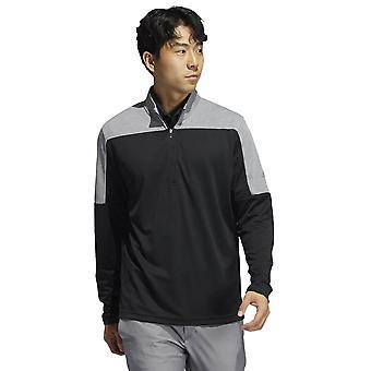 adidas Golf Mens 2021 1/4 Zip UPF Lightweight Soft Stretch UPF 50+ Sweater