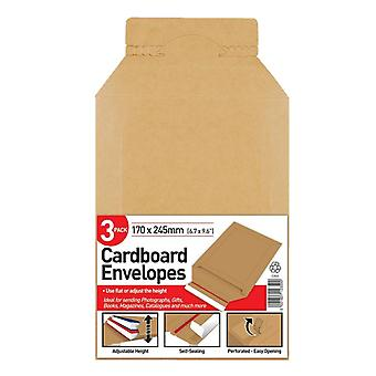 County Stationery Cardboard Board Back Envelope (Pack of 3)