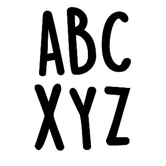 "Autocollants casual black 2"" Uppercase Letter Stickers, Pack Of 109"