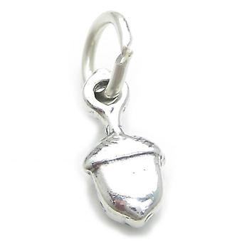 Eichel Tiny Sterling Silber Charm .925 X 1 Eichel Eiche Baum Samen Charms - 4048