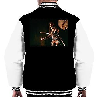 Xena Warrior Princess Fighting Män's Varsity Jacket