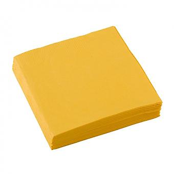 Napkins Yellow 25 X 25 Cm 20 Pieces