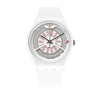Swatch Gw717 N-igma Vit Silikon Klocka