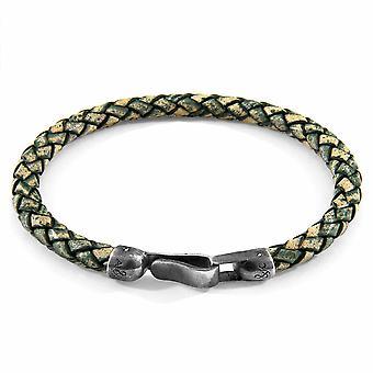 ANCHOR & CREW Skye Silver en gevlochten lederen armband