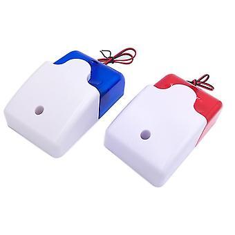 Home Security Mini Strobe Sirenen Sound Alarm Rot Blau Anzeige Licht verdrahtet