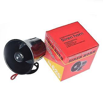Sirène d'alarme extérieure, klaxon bruyant de fil, haut-parleur extérieur pour le système d'alarme (noir)