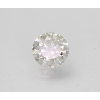 Certifié 1.11 Carat F SI2 Round Brilliant Enhanced Natural Diamond 6.39mm 3VG