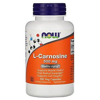 Maintenant Aliments, L-Carnosine, 500 mg, 100 Capsules de légumes