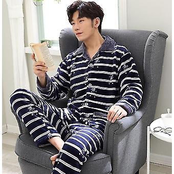 Talvi Lämmin - Paksu Flanelli, Sleepwear Pajama