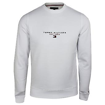 Tommy hilfiger men's essential white sweatshirt