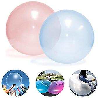 Kids Indoor Outdoor Inflatable Ball Games - Soft Air Water Filled Bubble Ball