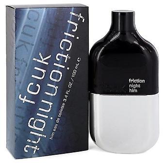 Fcuk Friction Night Eau De Toilette Spray By French Connection 3.4 oz Eau De Toilette Spray