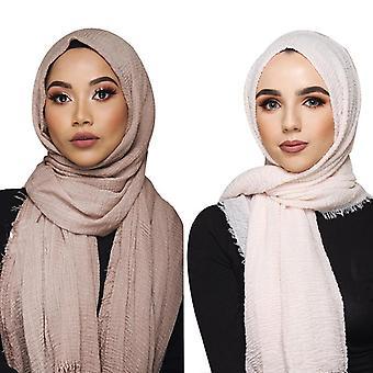Mulheres Muçulmanas Crinkle Hijab Scarf