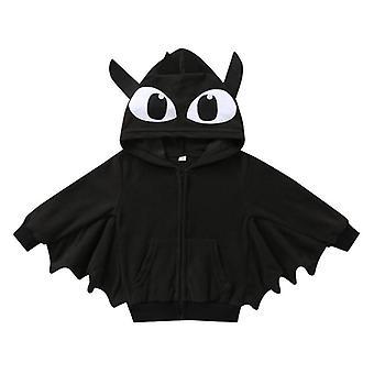 Bebé Halloween ropa otoño dibujos animados estampado murciélago chaqueta con capucha