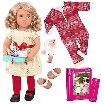 Our generation noelle doll with  sneaky santas book