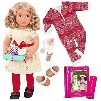 Vores generation noelle dukke med luskede santas bog