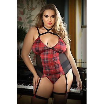 Shannon 2-Piece Suspender Set With Slip - Curvy