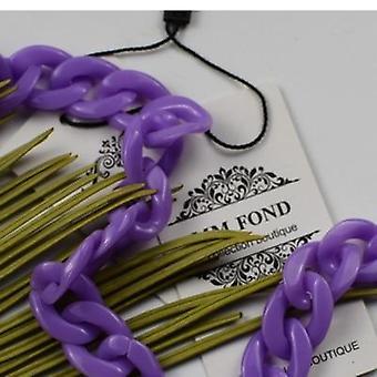 Purple Mask Chain Resin Women Bag Strap Or Neck Chain Belt