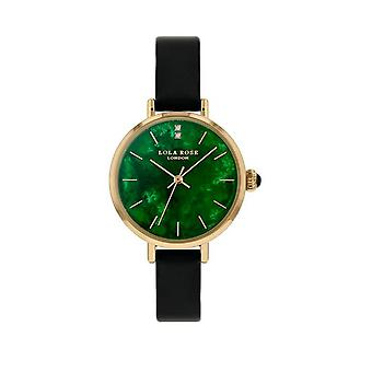 Lola Rose Lr2174 Green Dial Leather Strap Watch For Women