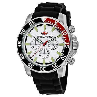 Seapro Scuba Explorer Chronograph Quartz Silver Dial Men's Watch SP8330