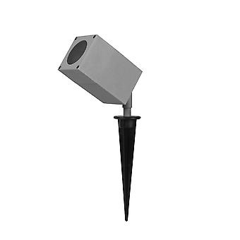 Outdoor Spike Spotlight Grey IP44 GU10 50W