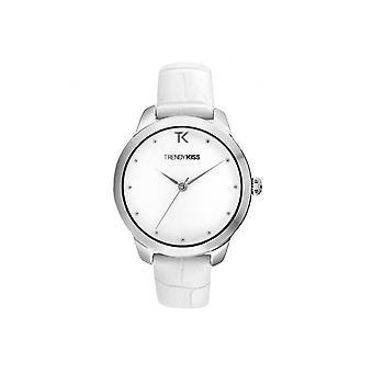 DAMESHORLOGE TRENDY KISS TC10140-01 - Witte Leren Armband