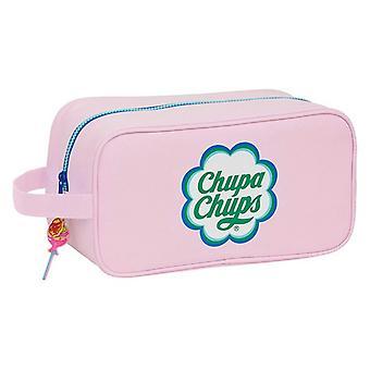 Travel Slipper Holder Chupa Chups Pink Polyester