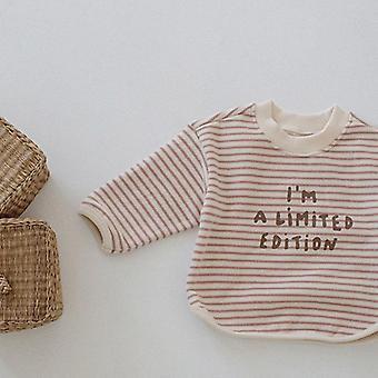 Spring Style Taapero Base Shirt, Vastasyntynyt Vauvanvaatteet Raidallinen, Pusero, Paita