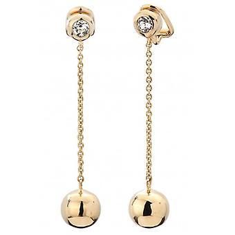 Pendientes de clip de gota de viajero chapados en oro 50mm - 157177 - 685