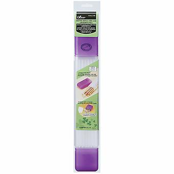 Caja del tubo de la aguja de tejer del trébol: Púrpura