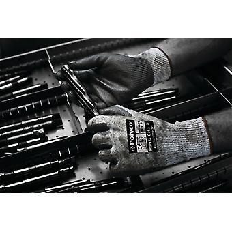 Polyco GH315 matriz PU 5 Palm recubiertos guantes resistentes al corte tamaño 9