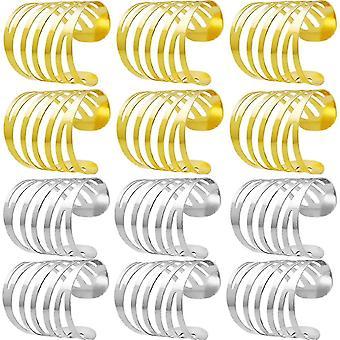 12PCS Serviettenringe,Biluer Serviettenringe Halter Serviettenring aus Metall fr Weihnachtsessen