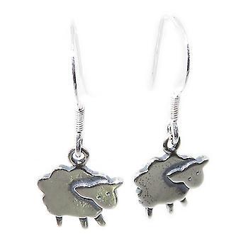 Söpö karitsan sterling hopea pudota korvakorut .925 X 1 pari karitsa & lammas dangles