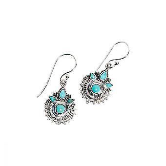 Ohrringe mit massivem Silber und Naturstein