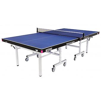 Butterfly National League 25 Rollaway Table Tennis Table Set - Blue