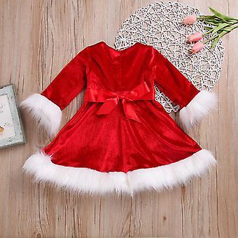Девушка Рождественское платье, Детское красное платье