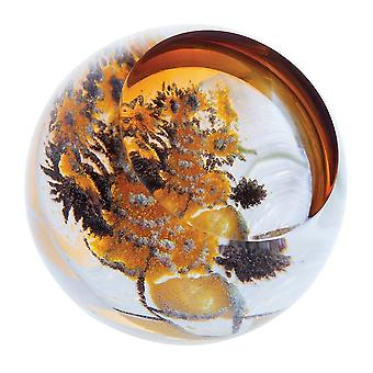 Caithness Glass Impressions Artistiques Tournesols Paperweight